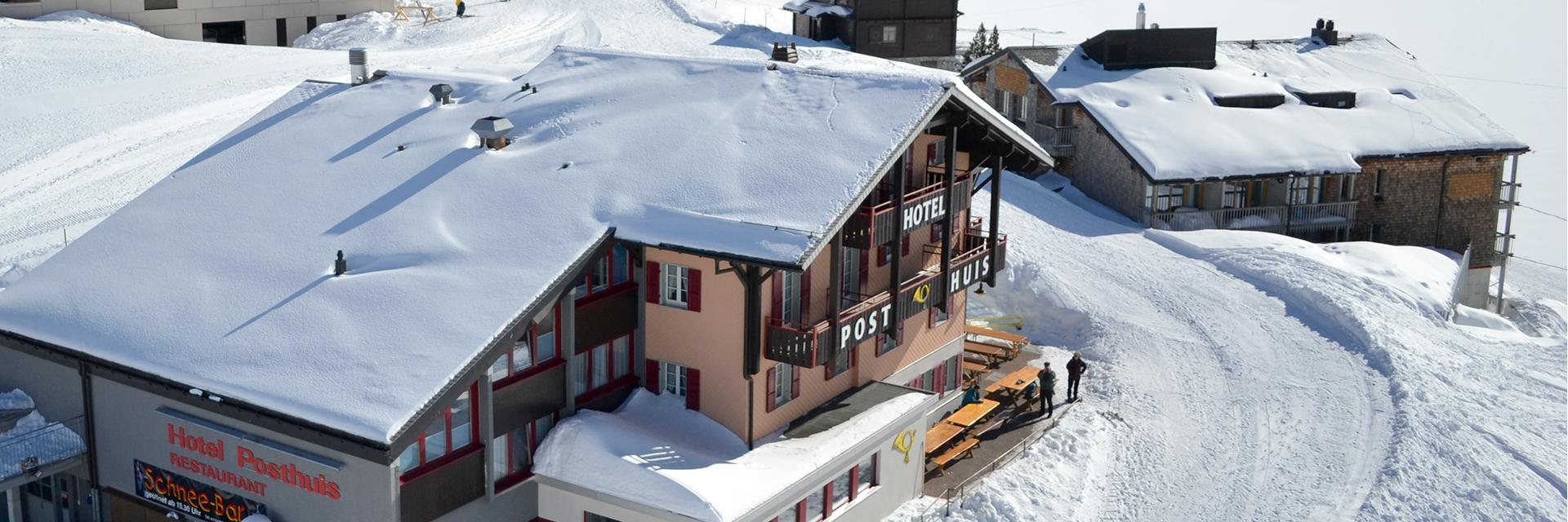 Unser Hotel von oben!