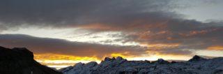 Herbstlicher Sonnenaufgang am Melchsee